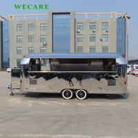 High quality food trailer airstream food truck burger