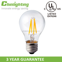 Hot factory sell 90ra 6500k led filament A60 7W led filament bulb