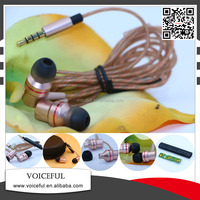 3.5 mm plug jack colorful earphone in ear earphone with mic for mobile phone