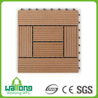Economical price termite resistance wpc white and grey floor tiles