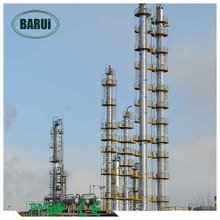 Continuous atmospheric and vacuum crude oil distillation plant with CE
