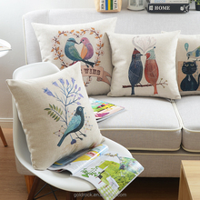 Factory direct sales pillow cushion cover custom printed fabric sofa living room decorative pillow case chair cover