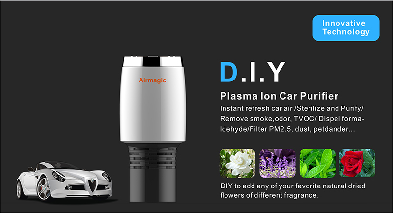 Natural Scents Hot New Plasma Car Ionizer Car Air Purifier car air freshener