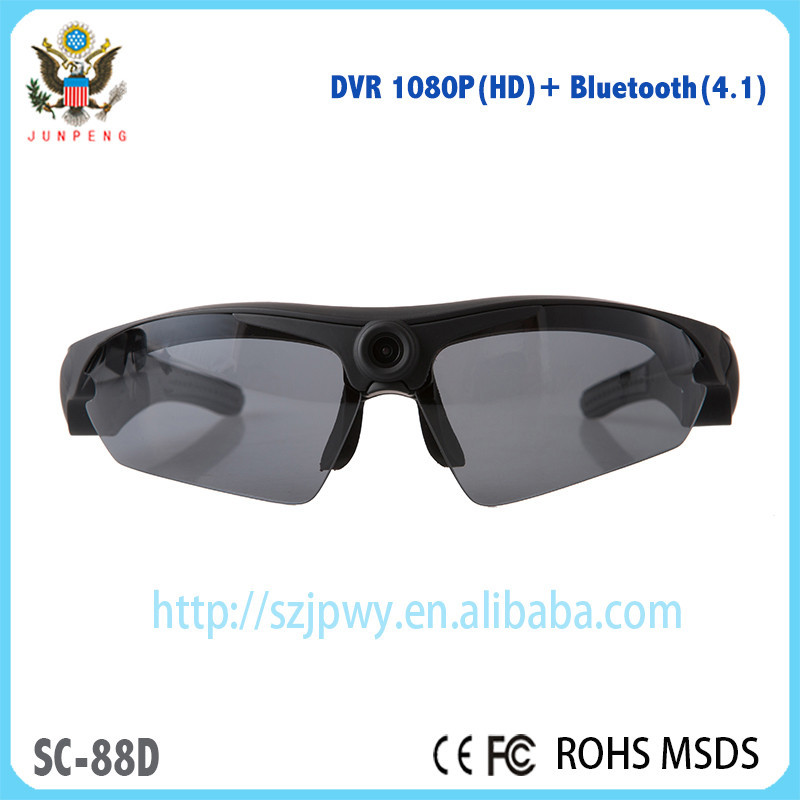 New design dvr sunglasses with polarized lens HD1080P HD DVR Camera & bluetooth 4.1 sunglasses stereo headset for sport DV