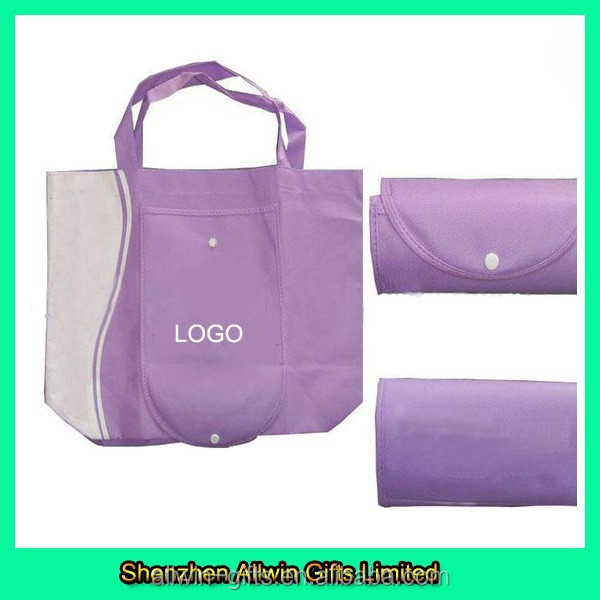 Handle style high quality folding non-woven shopping bag