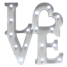 indoor sign letters plastic light box letter sign for wedding decoration