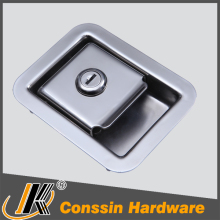 Good quality cabinet flush recessed paddle handle latch