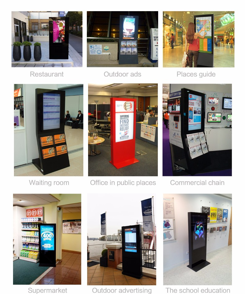 2016 android tablet shopping mall advertising touch screen kiosk