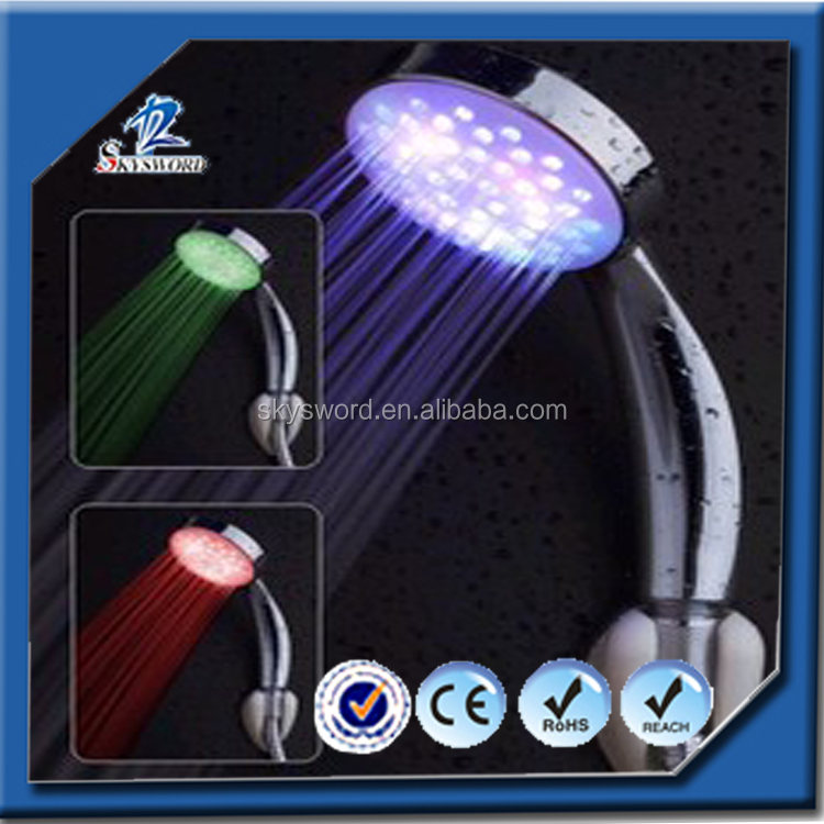 Kitchen accessories Color changed led handle shower, adjustable temperature shower, best gadgets kid shower head wholesale