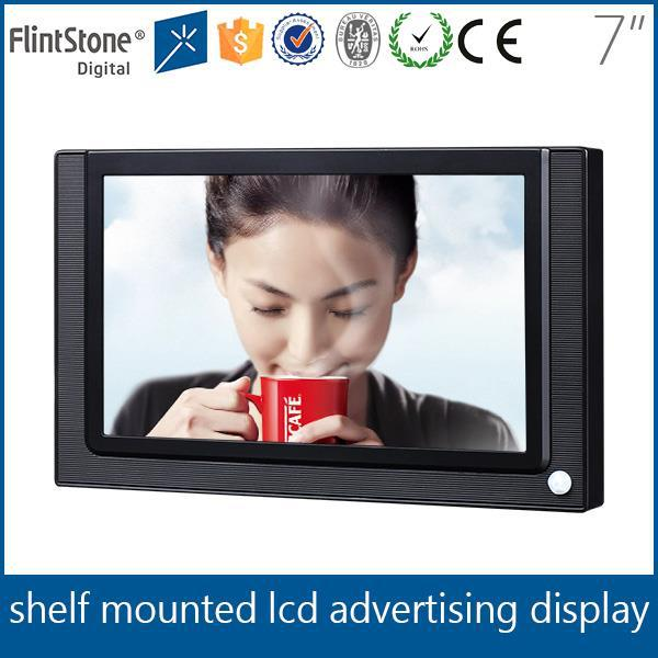 "FlintStone 7"" advertising lcd display screen for marketing"