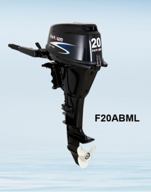 4 stroke 20hp outboard motor / tiller control / manual start /short shaft
