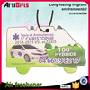 Artigifts company professional hanging paper cheap custom car air freshener