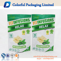 accpet customise food powder packaging foil bag stand up pouch toner bags