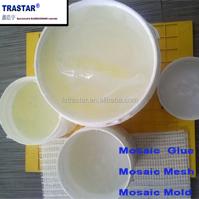 Cheap high quality glass ceramic mosaic adhesive glue for mosaic tile paving from Foshan Trastar