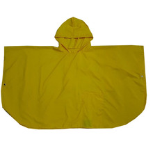 Waterproof yellow polyester poncho raincoat / rain poncho for adult