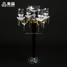 Hot Selling crystal Centerpiece crystal candelabras wedding table