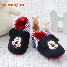 Navy boy cotton baby shoes comfortable kid shoes prewalker spring autumn toddler shoes