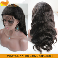 Wholesale Factory Price Honey Brown Side Part Human Hair Full Lace Wigs 8-24Inch In Stock