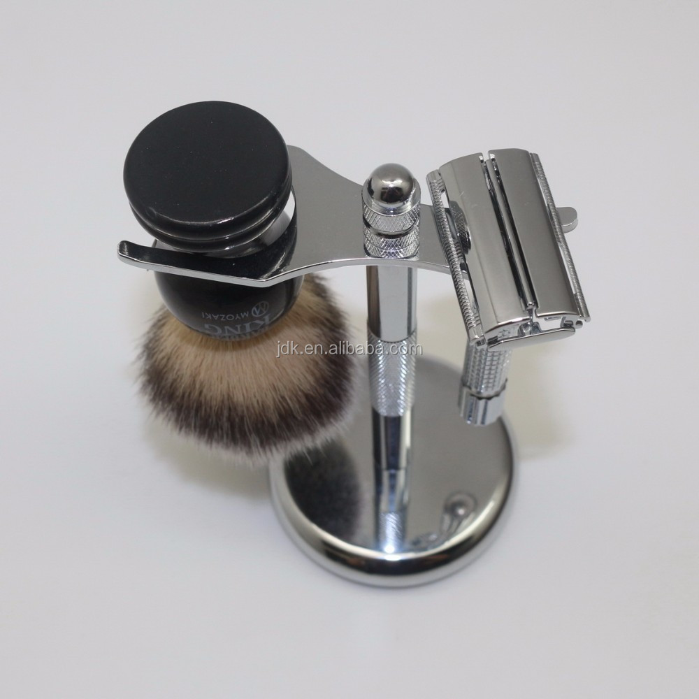 With Synthetic Beard Brush Razor and Stand Wholesale Shaving Set Kit For Men