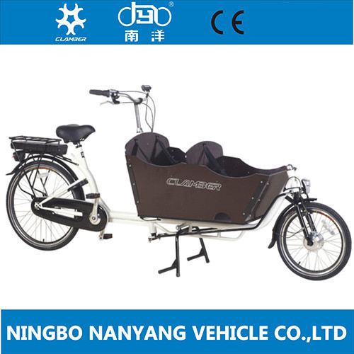 China cheap motorized family cargo bike used / electric bicycle / UB9016E-N3S