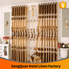 European elegant gorgeous water-soluble embroidery decorative brown color window curtain