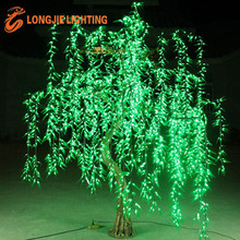 3456L H:2.5m led simulation green weeping willow tree lamp