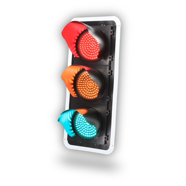 Waterproof three color 300mm Vehicle LED Traffic Signal Light