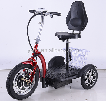 3 wheel electric scooters with seat 500W cheap electric scooter for adults