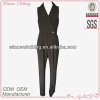high quality black ladies formal pant suits