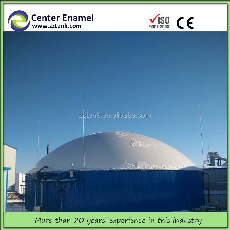 Turnkey EPC Project Biogas Power Plant with Anaerobic Digester Glass-Fused-to-Steel Tank