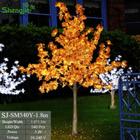 Superb quality artificial waterproof outdoor maple led christmas tree light