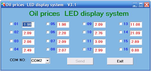 Hot sale 22 inch waterproof &anti-rust petrol oil price led digital display screen/sign/panel from China