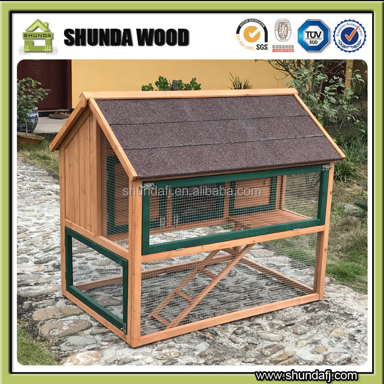 SDC025 industrial chicken coop wooden galvanized wire mesh
