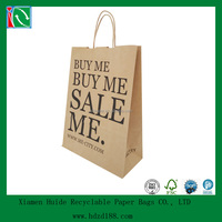2013 customized Printed Craft Promotional Paper Shopping Bag