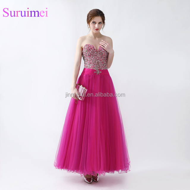 ball prom dresses with straps_Yuanwenjun.com