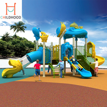 New product outdoor playground plastic slide children games equipment