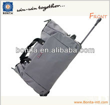 Fashion nylon travel trolley outdoor sport duffle bag with wheels