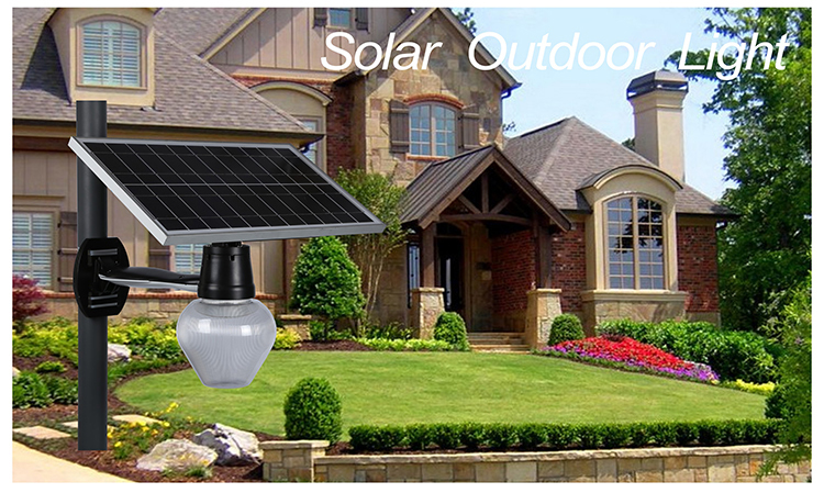 9w waterproof IP65 wall mounted solar led outdoor wall light for yard