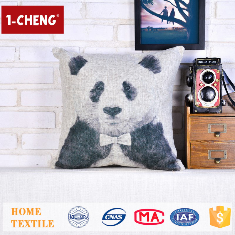 Hot Sale Cute Panda Pattern Design Printing Cushion,Home Decor Pillow Case,Decorative Pillow
