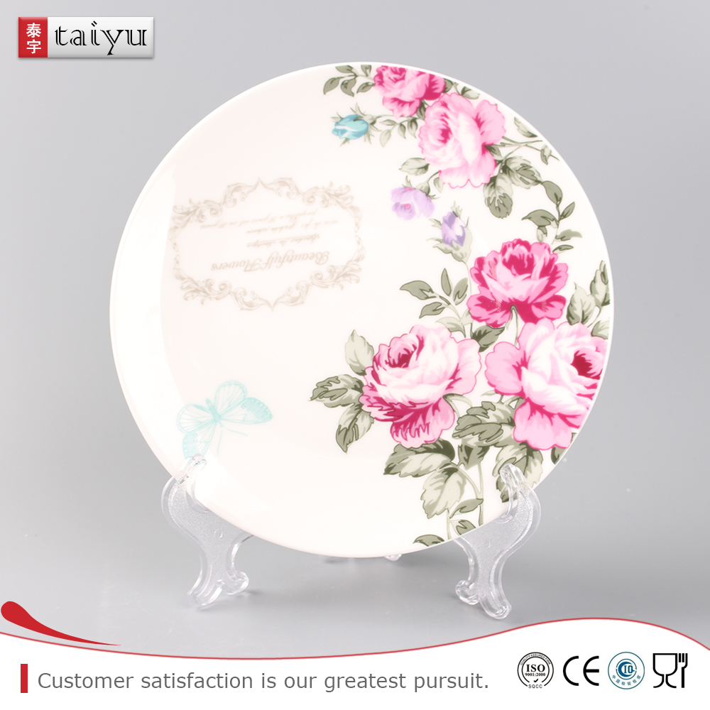 OEM stock sale deep hand-painting plate