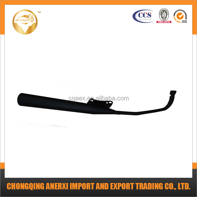 DY 90 Black Motorcycle Exhaust Muffler
