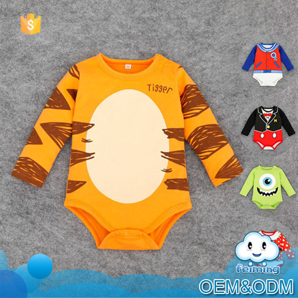 2016 China guangzhou latest knit romper wholesale animal baby cotton jumpsuit infants smocked romper