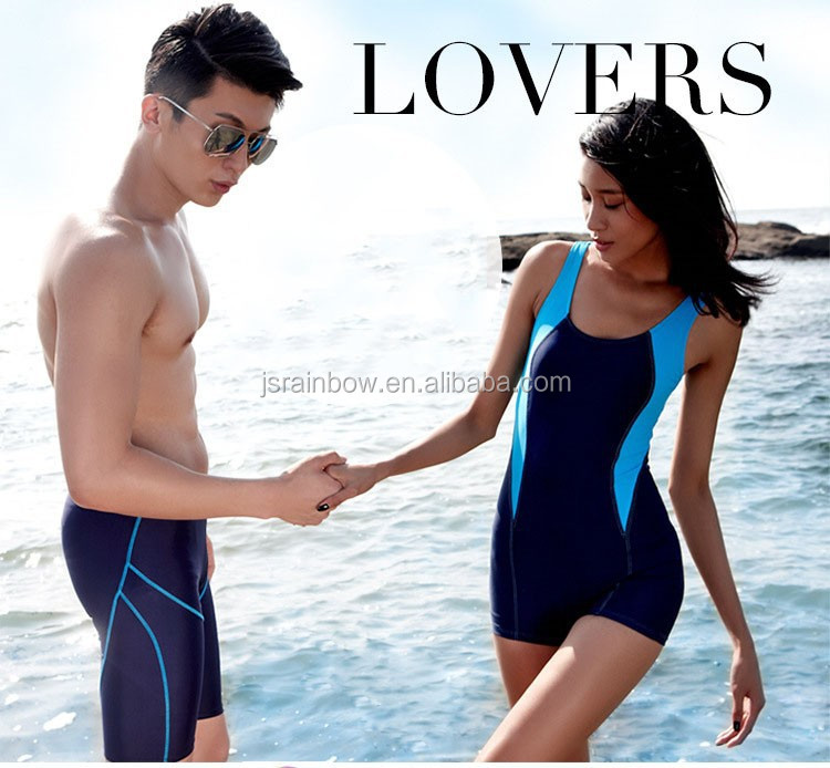 Cheap price couple beach shorts lycra women and men swimming shorts sexy E038