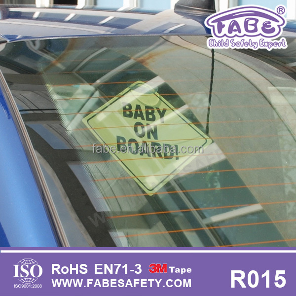 dropship safety baby and child on board car sign