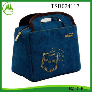 2016 fashion camping bag fitness insulated cooler lunch bag with stubby holder