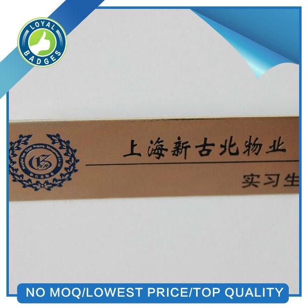 Wholesale printing etched custom metal logo plate