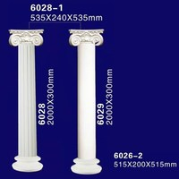 Exterior Decorative Plastic Hollow Polyurethane Lighted Roman Column / Pillar
