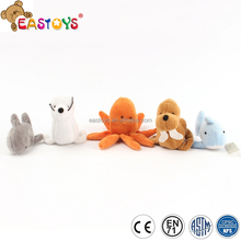 Popular stuffed marine animals cheap plush toy with small style