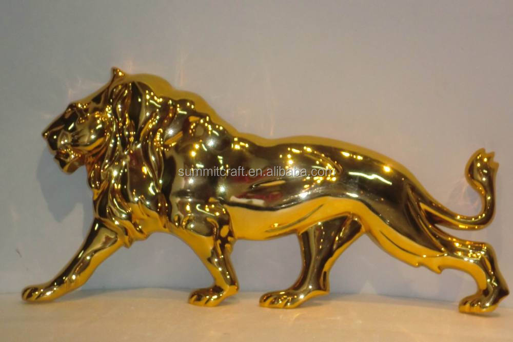 Custom resin golden electroplated interior decor deer family craft