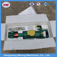 High efficient portable powerful YT28 Hydraulic rock drill used for Underground Gold mining